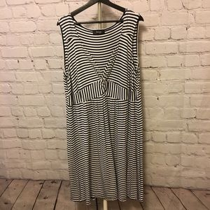 Navy and White Striped Dress